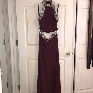Prom/evening dress long burgundy wine color